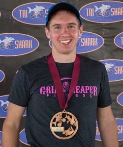 Cody Giebelhausen places 3rd at USAT Mideast Region Duathlon Championship.