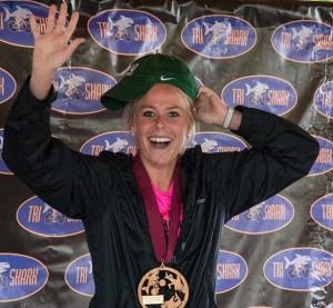 Lisa Becharas wins Tri-Shark women's title.
