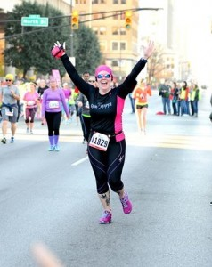 Pinkie Roffers approaches the 13.1-mile finish line.