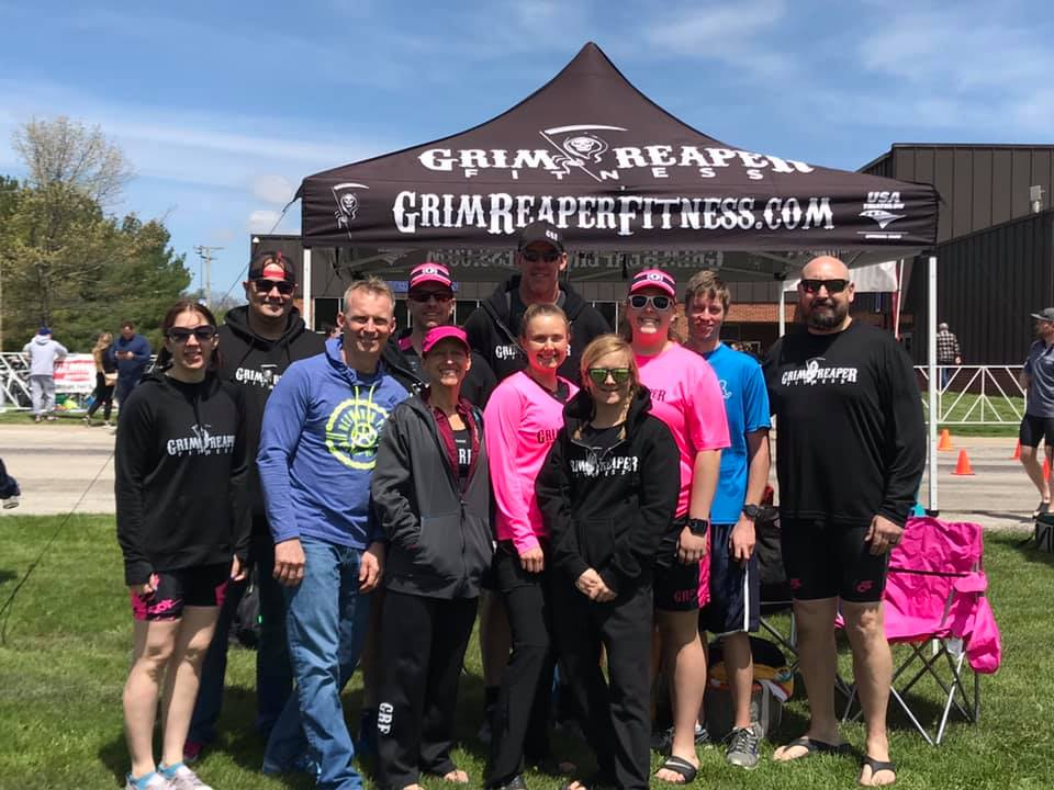 Grim Reaper Fitness at the 2019 Pioneer Sprint Triathlon.