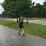 Michael Braun on the run at Ironman Tulsa