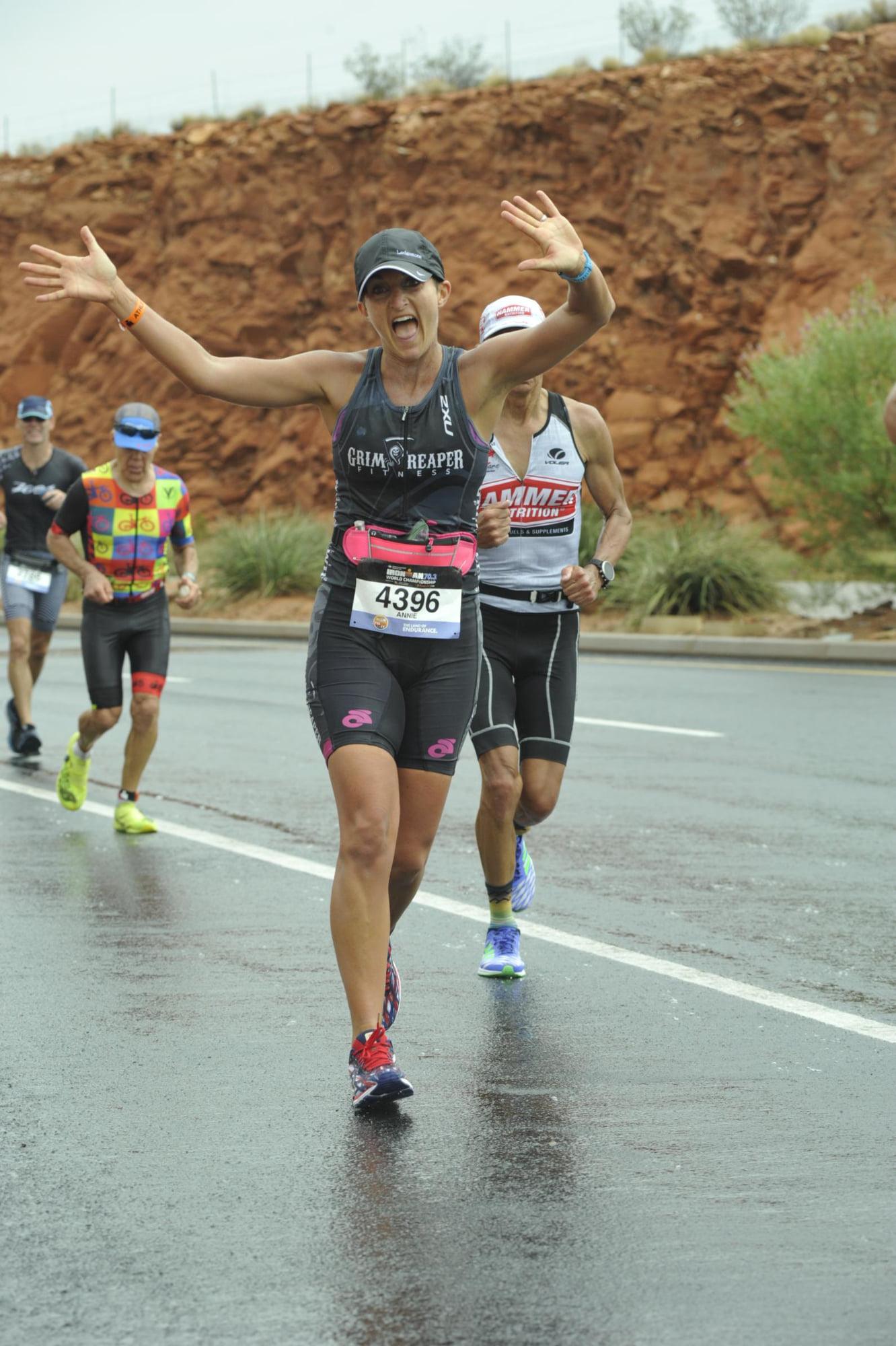 Annie McGee racing at St. George, Utah